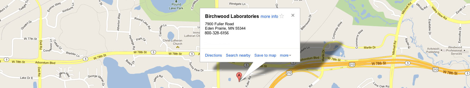 Google Map of Birchwood Location